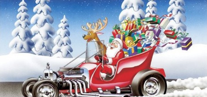 Hot-Rod-Racing-Christmas-Cards